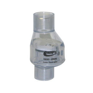 """3/4"""" Swing/Spring Check Valve FPT x FPT Clear 1/2 lb Tension"""