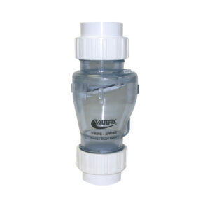 """2"""" Swing/Spring Check Valve Union x Union Clear 1/2 lb Tension"""