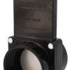 "3"" Valve FPT x Slip, w/ SS Paddle & Metal Handle, ABS Black"