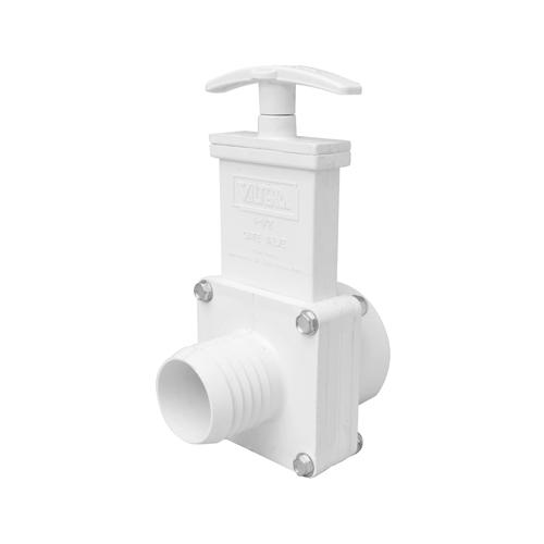 Valterra 6101M PVC Gate Valve with Metal Handle 1-1//2 Slip Valterra Products White 1-1//2 Slip