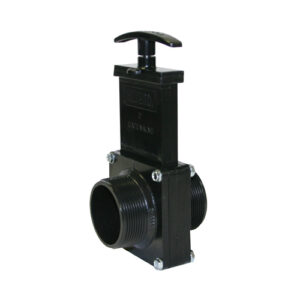 "2"" Valve MPT x MPT, w/ Plastic Paddle & Handle, ABS Black"