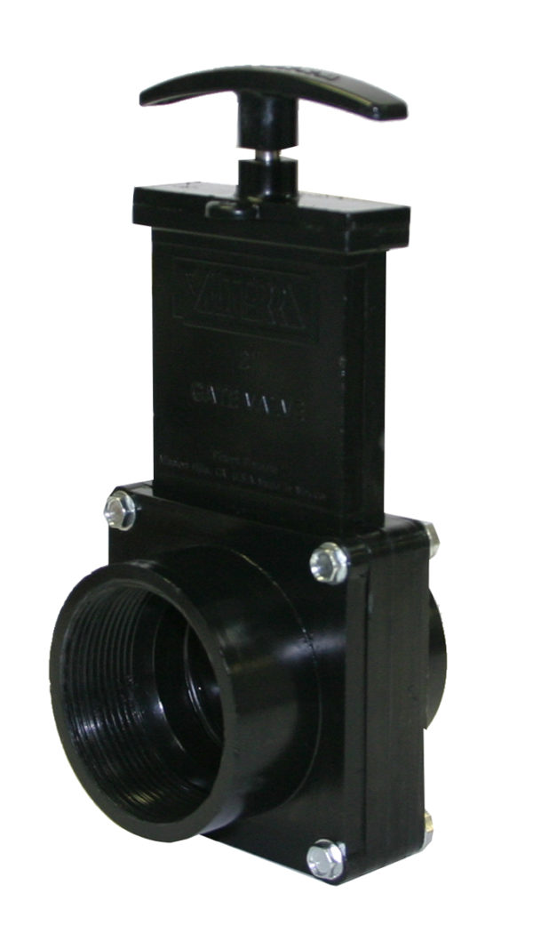 "2"" Valve FPT x Spigot, w/ Plastic Paddle & Handle, ABS Black"