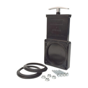 "3"" Valve Body Kit w/ Plastic Paddle & Metal Handle, ABS Black, Bagged"