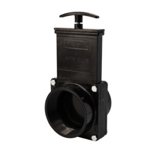 "3"" Valve FPT x Spigot, w/ Plastic Paddle & Handle, ABS Black"