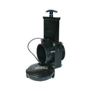 "3"" Valve MPT x Bay with Cap, w/ Plastic Paddle & Handle, ABS Black"