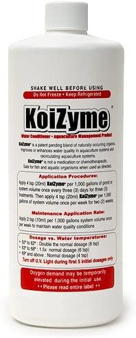 Koizyme 32 oz bottle by Koi Care Kennel.